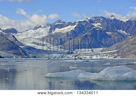 Glacial Landscape of the West Branch of the Columbia Glacier in Prince William Sound in Alaska