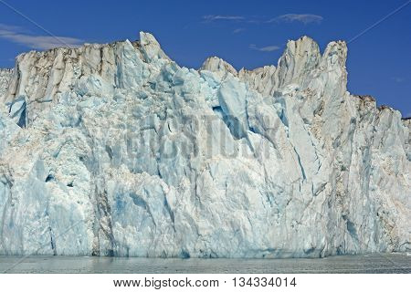 Ice Face of the Columbia Glacier in Prince William Sound in Alaska