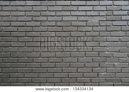 Brick Wall Painted Gray vintage background image