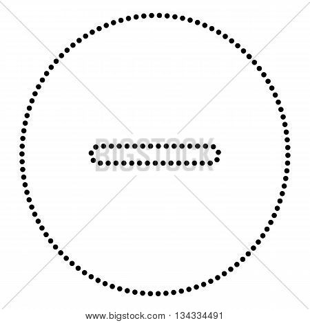 Negative symbol illustration. Minus sign. Dot style or bullet style icon on white.