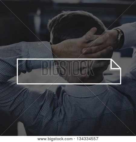 Business Man Relax Frame Graphic Concept