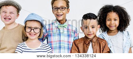 Children Kids Casual Offspring Adorable Youth Concept