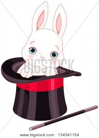 Rabbit in top hat magic trick