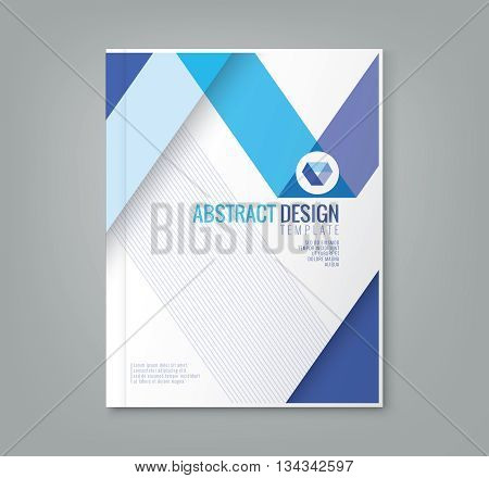 abstract blue line design background template for business annual report book cover brochure flyer poster