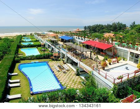 CAT BA, VIET NAM, June 10, 2016 luxury resorts, the Bay Cat Ba, Hai Phong City, Vietnam