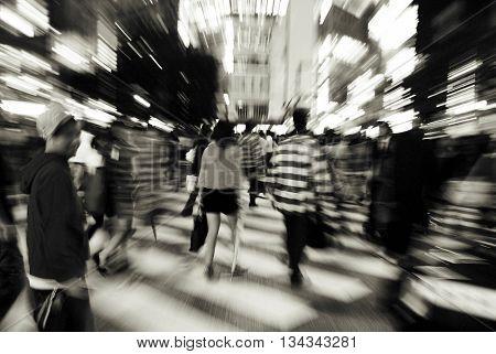 Tokyo Night Famous Shibuya Concept