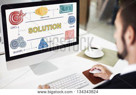Solution Decision Ideas Problem Solving Strategy Concept