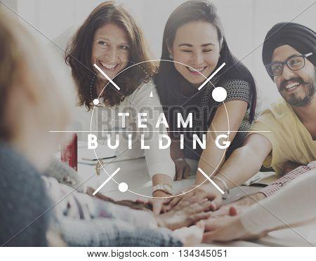 Team Building Spirit Teamwork Unity Concept