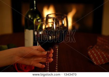 Girl'S Hand Holding Wine Glass
