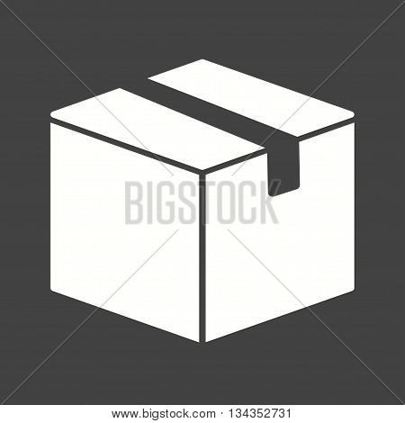 Box, package, logistics icon vector image. Can also be used for logistics. Suitable for mobile apps, web apps and print media.