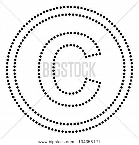 Copyright sign illustration. Dot style or bullet style icon on white.