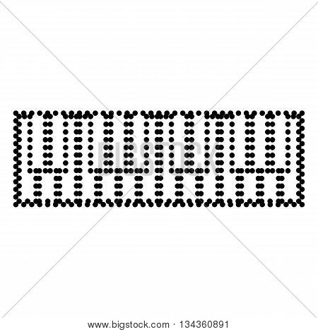 Piano Keyboard sign. Dot style or bullet style icon on white.