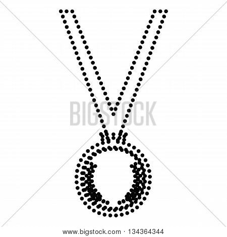 Medal simple sign. Dot style or bullet style icon on white.