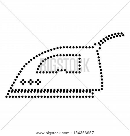 Smoothing Iron sign. Dot style or bullet style icon on white.