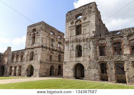 The ruins of a 17th century giant castle Krzyztopor Poland