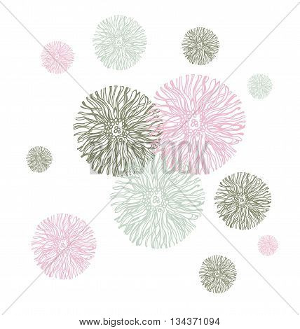 Abstract floral background. Vector abstract flower. Element for design.