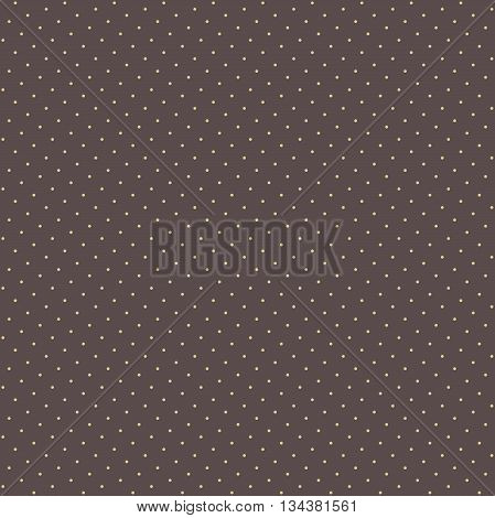 Seamless geometric vector pattern. Modern ornament with dotted elements. Brown and golden colors