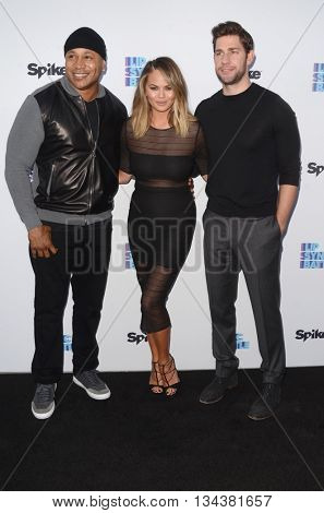 LOS ANGELES - JUN 14:  LL Cool J, James Todd Smith, Chrissy Teigen, John Krasinski at the Lip Sync Battle FYC Event at the Saban Media Center on June 14, 2016 in North Hollywood, CA