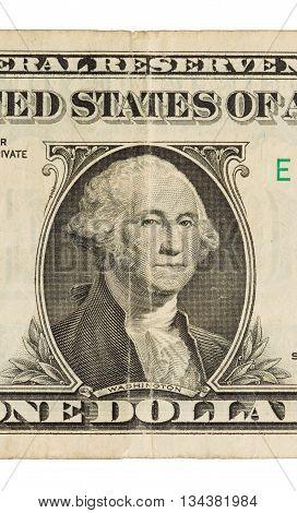 Us One Dollar Bill, Close Up