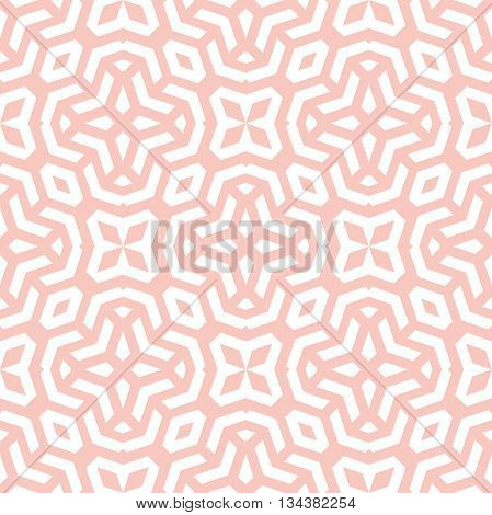 Seamless geometric pattern by stripes. Modern vector background with repeating lines. Seamless geometric background. Pink and white pattern