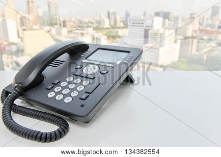 Black Ip Phone For Business Communication