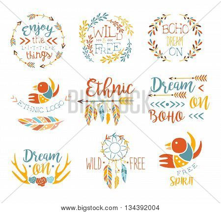 Jurassic Period Dinosaurs Set Flat Simplified Cartoon Style Bright Color Vector Illustration On White Background
