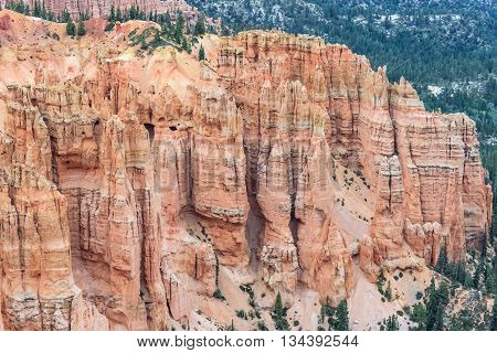Hoodoo Pinnacle Stone At Bryce Canyon National Park, Utah,  Usa