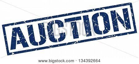 Auction Stamp. Vector. Stamp. Sign. Auction. Blue.