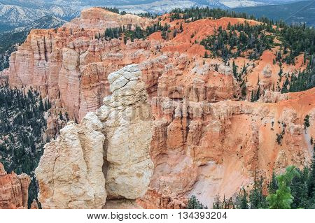 Hoodoo Pinnacle Stones At Bryce Canyon National Park, Utah,  Usa