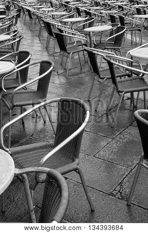 Tables and Charis at San Marco Venice