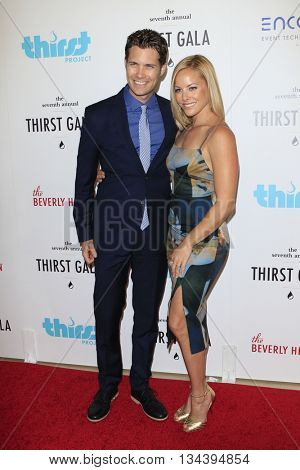 LOS ANGELES - JUN 13:  Drew Seeley, Amy Paffrath at the 7th Annual Thirst Gala at the Beverly Hilton Hotel on June 13, 2016 in Beverly Hills, CA