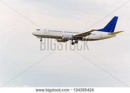 Landing Or Taking Off Passenger Airplane