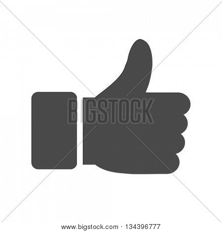 Thumbs up icon. Vector like icon.