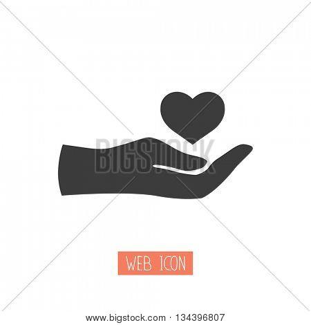 charity web icon. vector design