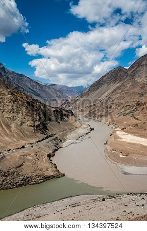Indus river in Ladakh in the Himalaya