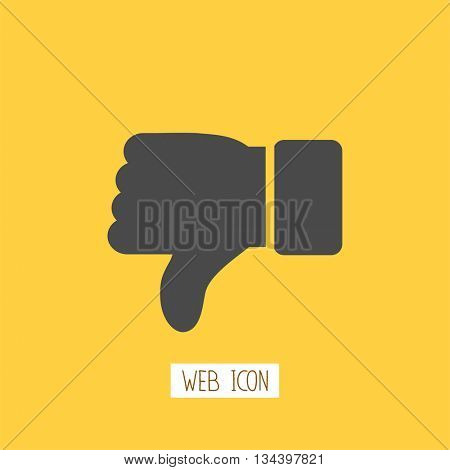 Thumb down applique. Icon.  Vector Illustration.