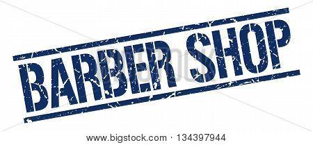 Barber Shop Stamp. Vector. Stamp. Sign. Barber.shop. Blue.