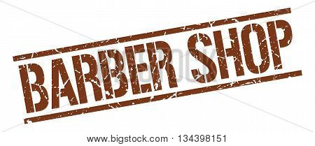 Barber Shop Stamp. Vector. Stamp. Sign. Barber.shop. Brown.