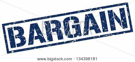 Bargain Stamp. Vector. Stamp. Sign. Bargain. Blue.