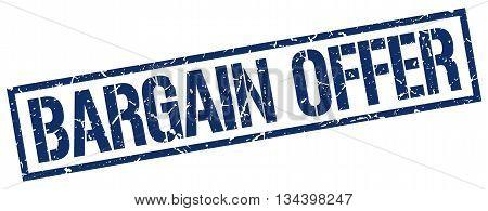 Bargain Offer Stamp. Vector. Stamp. Sign. Bargain.offer. Blue.