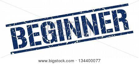 Beginner Stamp. Vector. Stamp. Sign. Beginner. Blue.