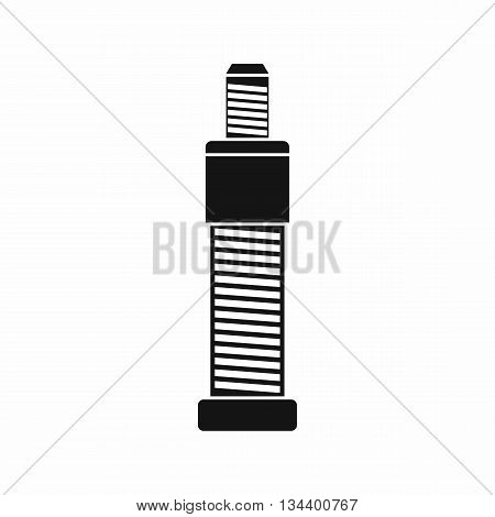 Screw and bolt icon in simple style isolated on white background