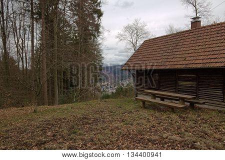 Resting Hut Near Bad Herrenalb, Baden-wurttemberg, Germany