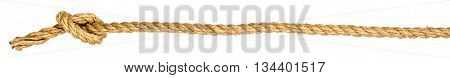 Rope knot isolated on white background, closeup