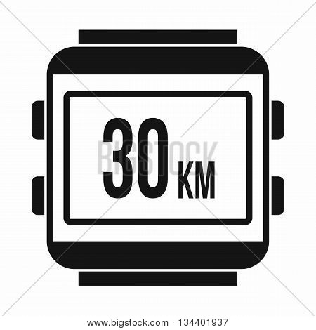 Speedometer bike icon in simple style isolated on white background