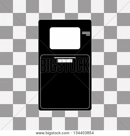 ATM icon vector on a transparent background