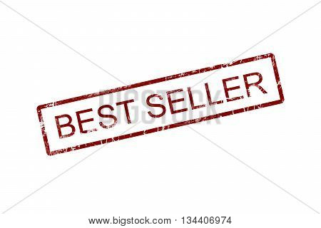 BESTSELLER Rubber Stamp over a white background