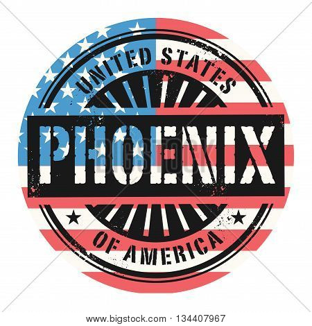 Grunge rubber stamp with the text United States of America, Phoenix, vector illustration