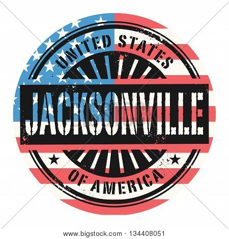 Grunge rubber stamp with the text United States of America, Jacksonville, vector illustration