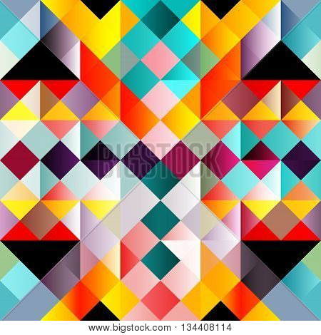 psychedelic colorful geometric seamless pattern vector illustration abstract high quality